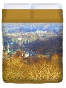 Boathouse Row Impasto Duvet Cover