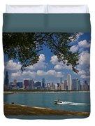 Boating In Chicago  Duvet Cover