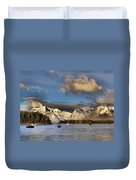 Boating In The Tetons Duvet Cover by Dan Sproul