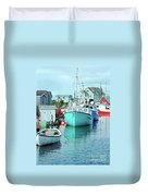 Boating In The Village Duvet Cover