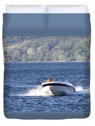 Boating On Grand Traverse Bay Duvet Cover