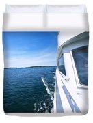 Boating On Lake Duvet Cover