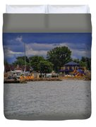 Boating On Lake Erie Duvet Cover