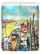 Boats And Boardwalks By Brittany 02 Duvet Cover