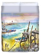 Boats And Boardwalks By Brittany 01 Duvet Cover