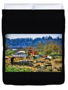 Boats And Heavy Equipment Duvet Cover