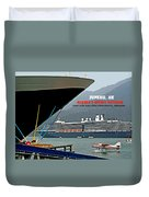 Boats And Plane Duvet Cover