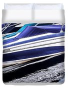 Boats And Reflections Duvet Cover