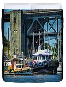 Boats And Tugs Hdrbt3221-13 Duvet Cover
