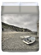Boats At Bude  Duvet Cover