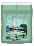 Boats At Provincetown Ma Duvet Cover