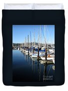 Boats At Rest. Sausalito. California. Duvet Cover