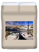Boats At St.tropez Duvet Cover