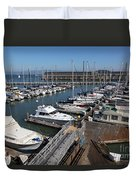 Boats At The San Francisco Pier 39 Docks 5d26004 Duvet Cover