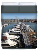 Boats At The San Francisco Pier 39 Docks 5d26005 Duvet Cover