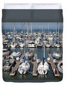 Boats At The San Francisco Pier 39 Docks 5d26009 Duvet Cover