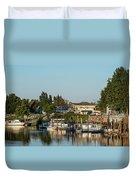 Boats In A River, Walnut Grove Duvet Cover