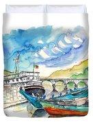 Boats In Barca De Alva 02 Duvet Cover