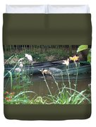Boats In Giverny Duvet Cover