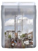 Boats In The Harbor 1905 Duvet Cover