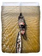 Boats In The Mekong River - Vietnam Duvet Cover