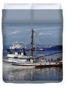 Boats Of The North West Duvet Cover