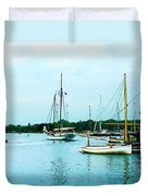 Boats On A Calm Sea Duvet Cover