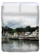 Boats On A Cloudy Day Essex Ct Duvet Cover