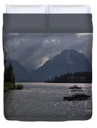 Boats On Jackson Lake - Grand Tetons Duvet Cover