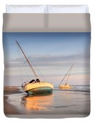 Accidentally - Boats On The Beach Duvet Cover