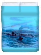 Boats On The Chesapeake Bay Duvet Cover