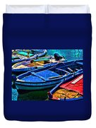 Boats Snuggling - Sicily Duvet Cover