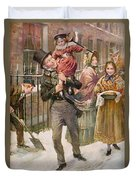 Bob Cratchit And Tiny Tim Duvet Cover
