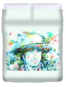Bob Dylan - Watercolor Portrait.2 Duvet Cover