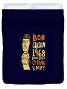 Bob Gibson St Louis Cardinals Duvet Cover
