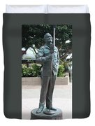 Bob Hope Memorial Statue Duvet Cover