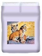 Bob Kittens Duvet Cover by Phyllis Kaltenbach