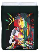 Bob Marley And Rasta Lion Duvet Cover