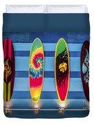Bob Marley Surfing Display Duvet Cover