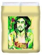 Bob Marley Watercolor Portrait.9 Duvet Cover