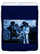 Boc #43 Enhanced In Blue Duvet Cover