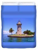 Boca Chita Lighthouse Duvet Cover