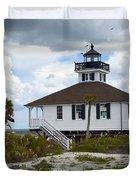 Boca Grande Lighthouse II Duvet Cover