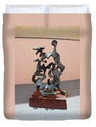 Boca Sculpture Duvet Cover