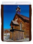 Bodie Ghost Town Church Duvet Cover