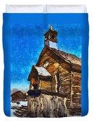 Bodie Ghost Town Methodist Church Duvet Cover