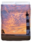 Bodie Island Lighthouse At Sunrise Vetical Duvet Cover
