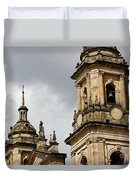 Bogota Cathedral Towers Duvet Cover