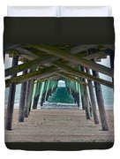 Bogue Banks Fishing Pier Duvet Cover