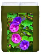 Bohemian Garden Morning Glory Duvet Cover